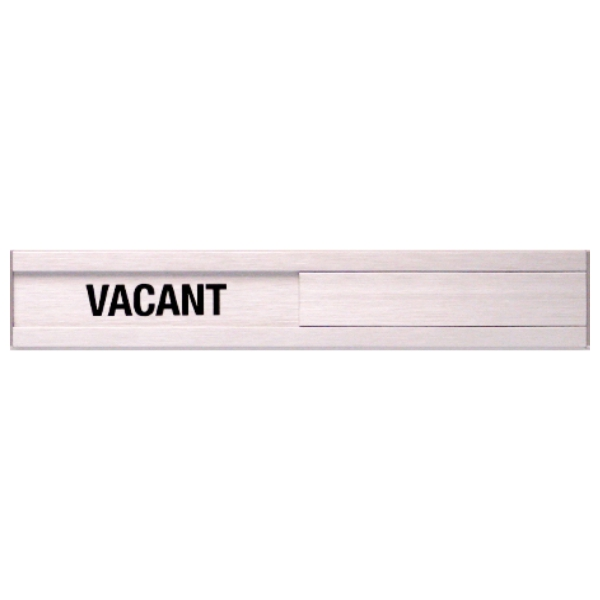 Vacant Occupied Slider Plate Door Sign 1 34 x 10 BC