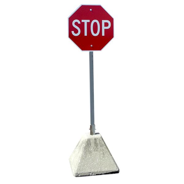 12 x 12 x 12 Concrete Sign Post Base