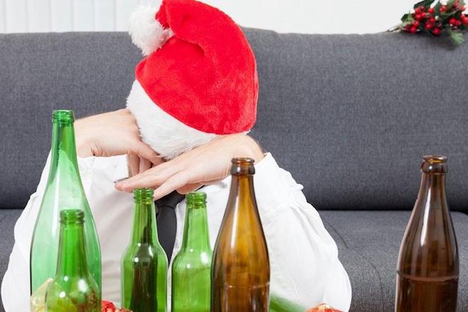 alcoholismo navidad diciembre bebidas alcoholicas