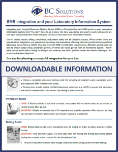 Downloadable Information on EMR/LIS Integration