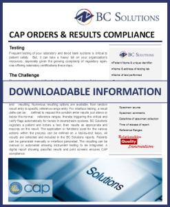 CAP orders