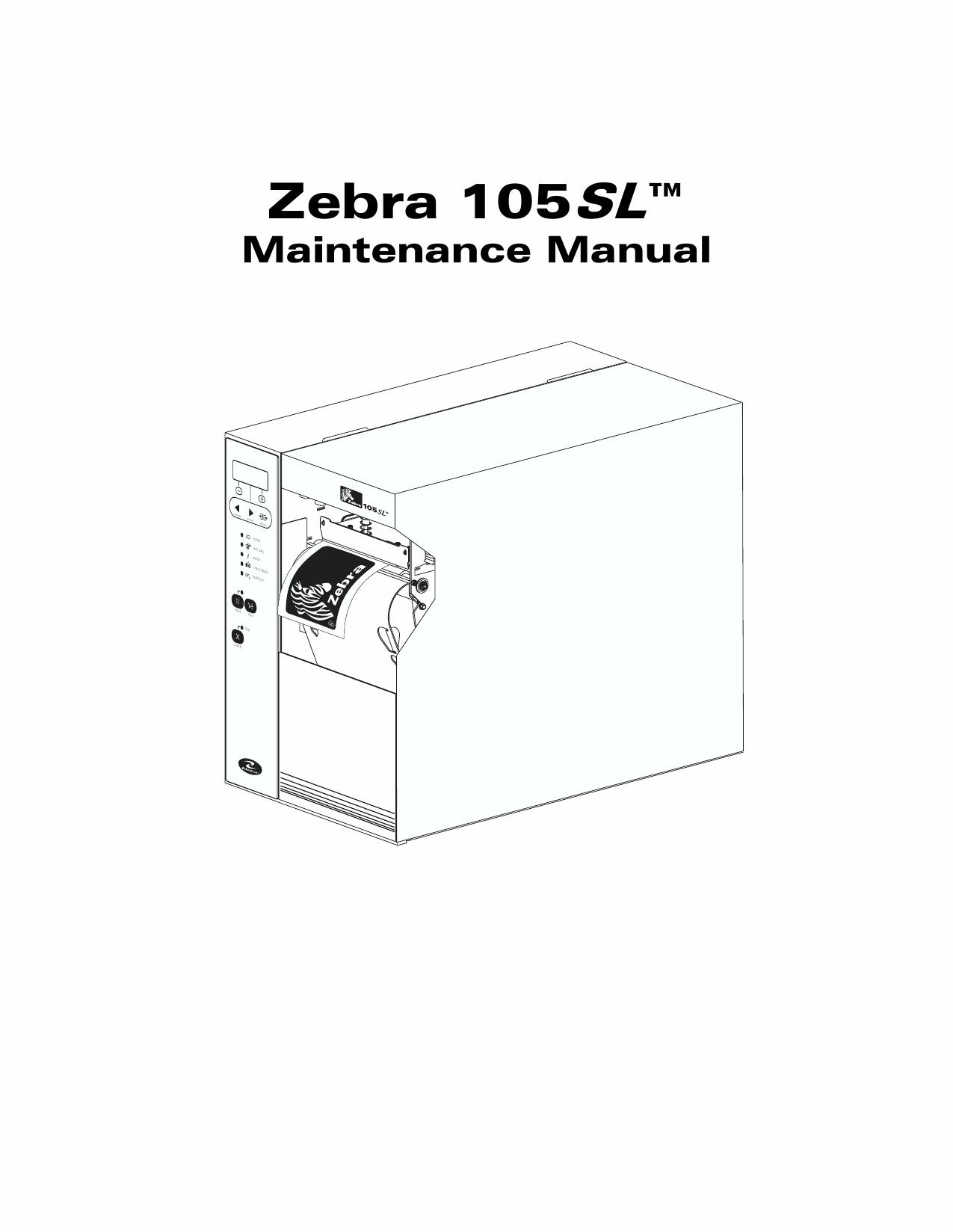 Zebra 105sl plus maintenance manual