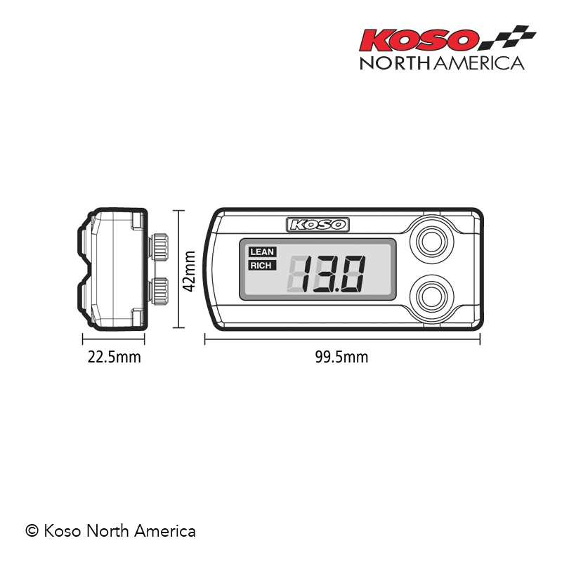 Koso Wideband Air/Fuel Ratio Gauge
