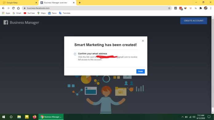 Facebook Business Manager verification