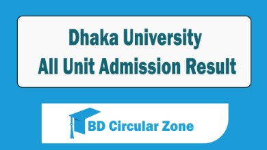 DU All Unit Admission Result 2019-20