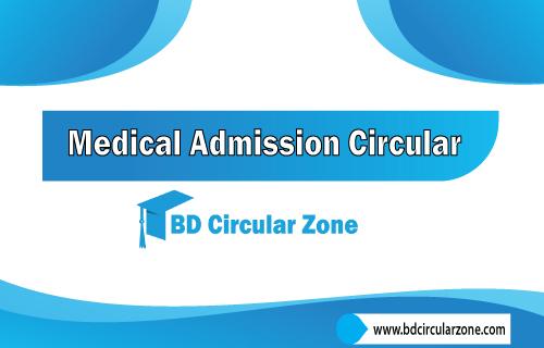 Medical Admission Circular 2019-20