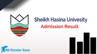 SHU Admission Result 2019-20