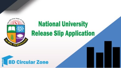 NU Release Slip Application Result 2019-20