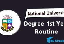Nu degree 1st year routine