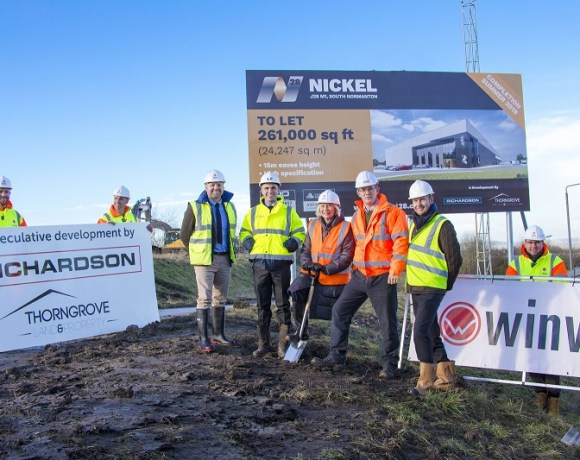 Work on a State of the Art Warehouse in Derbyshire Has Started