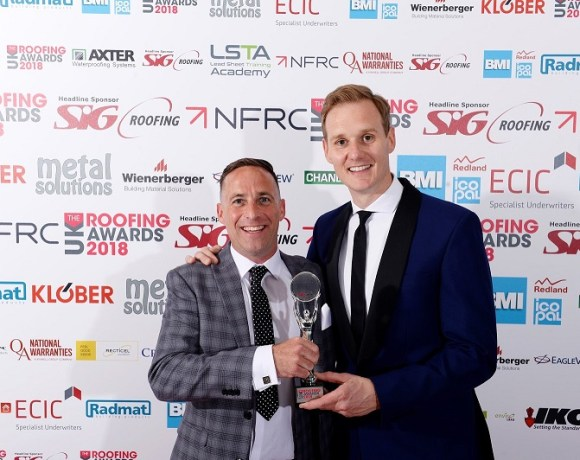 Lee Moran from Moran Roofing Specialists Crowned Local Hero