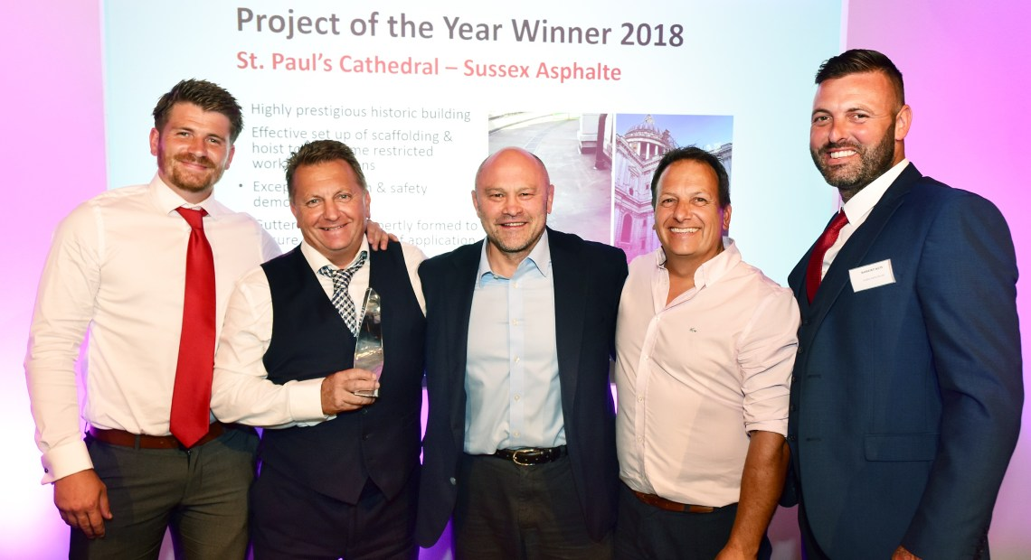 The mastic asphalt industry's most impressive projects and professionals were recognised at the Mastic Asphalt Council's (MAC) 2018 Awards hosted at London's Royal Horseguards Hotel.