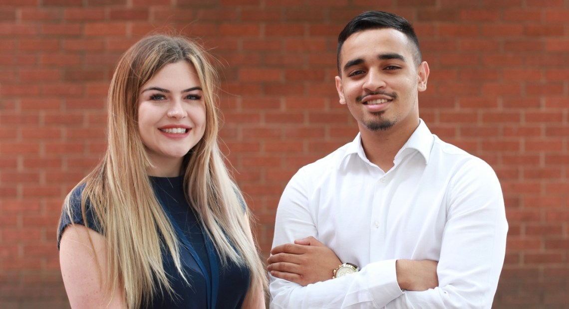 Muhammad Uddin and Isobel Moorhouse, two Yorkshire Housing apprentices, have fought off stiff competition to make the final shortlist for Yorkshire and Humber regional apprenticeship awards 2018.