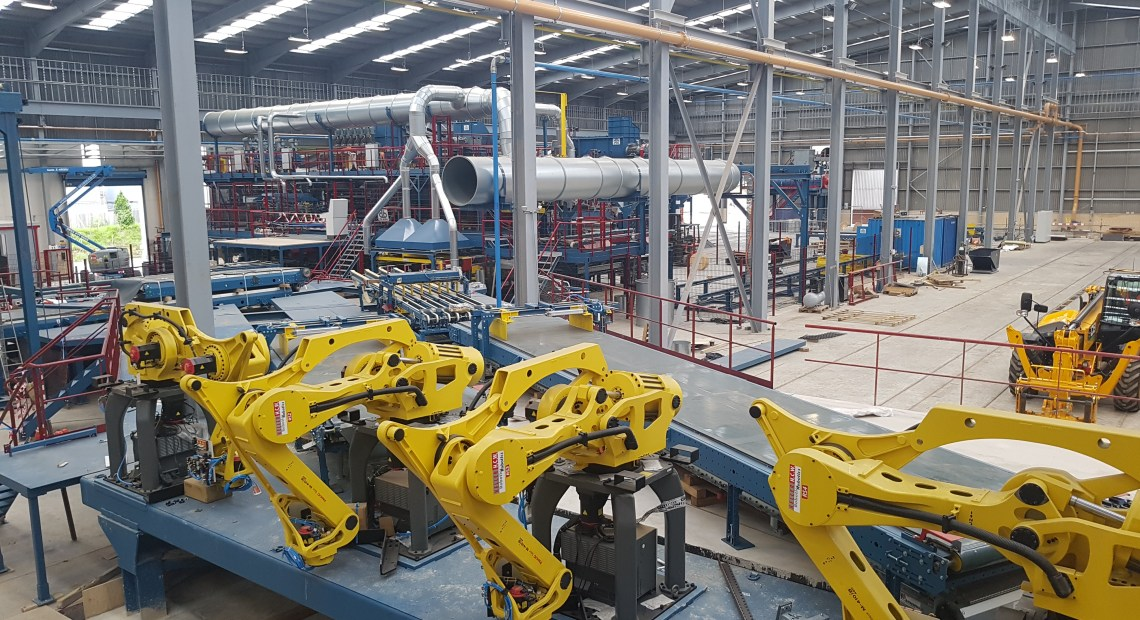 Abtec Building Technologies (Abtec BT) has recently completed a project to install a connected lighting system at a newly constructed brick factory in the East Midlands.