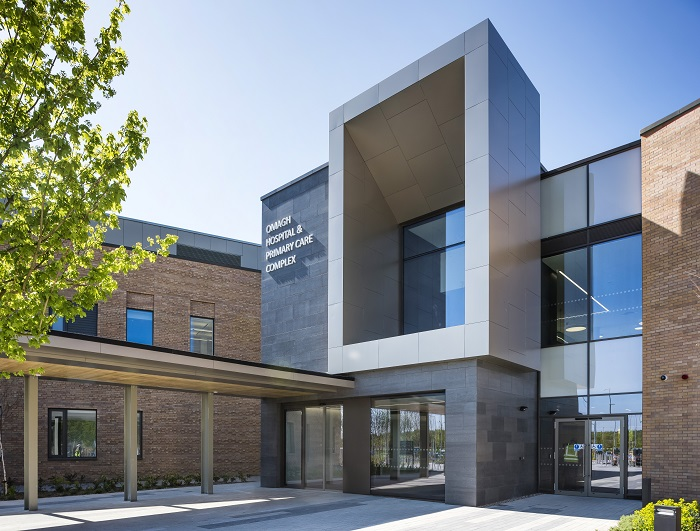 I would like to offer you an exciting case study on the £75m state-of-the-art Omagh Hospital and Primary Care Complex in County Tyrone, the first of its kind in Northern Ireland.
