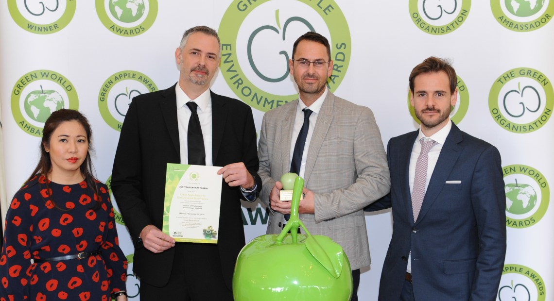 AJC EasyCabin, the leading pioneers in the production of sustainable temporary accommodation is celebrating further successes. Their engineering excellence has been, once again, formally recognised by the leading environmental campaigners – the Green Organisation.