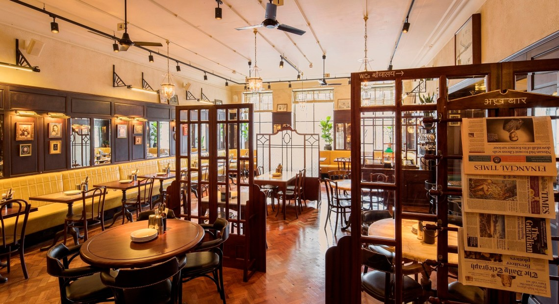 MACAULAY SINCLAIR has transformed part of a Grade II listed lodge building into Indian café brand Dishoom's seventh restaurant and bar in Bridge Street in Manchester.