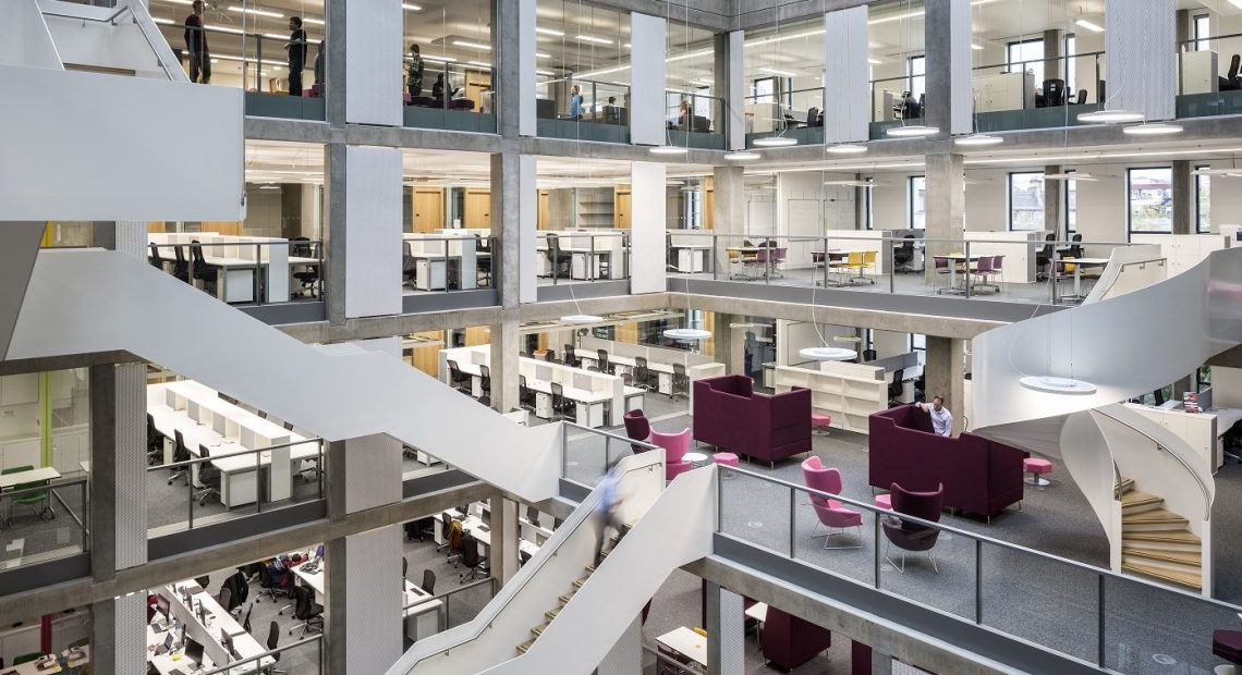 Indeglas, the Cumbernauld-based business recognised as a world class supplier of interior glass solutions, has completed its work at the iconic new building which is the University of Edinburgh's The Bayes Centre, the final phase of the University's state-of-the-art Potterrow development.