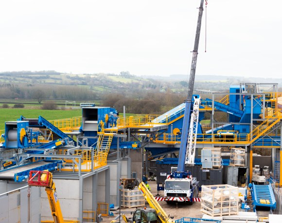 A new state-of-the-art £4million recycling 'super site' in Bristol is on track to be finished by the beginning of April.