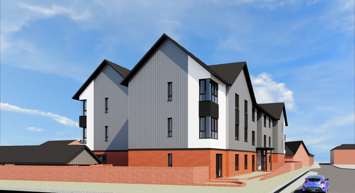 A contract to build Powys County Council's first affordable housing development for social rent in over 40 years has been awarded to a Welsh building company.