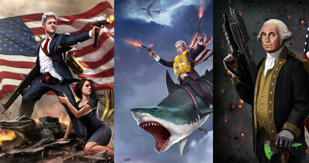 these badass presidential portraits