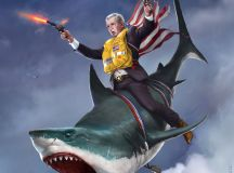 These badass presidential portraits are the most American ...