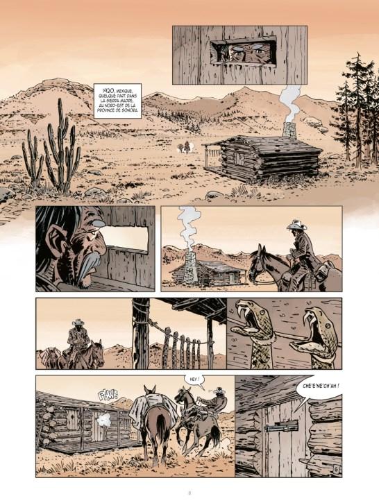 Les ombres de la Sierra Madre, tome 1 : La Niña Bronca BD de Philippe Nihoul et Daniel Brecht, Bande dessinée parue chez Sandawe éditions en 2017.