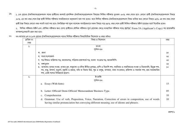 BPSC Job Circular 2020