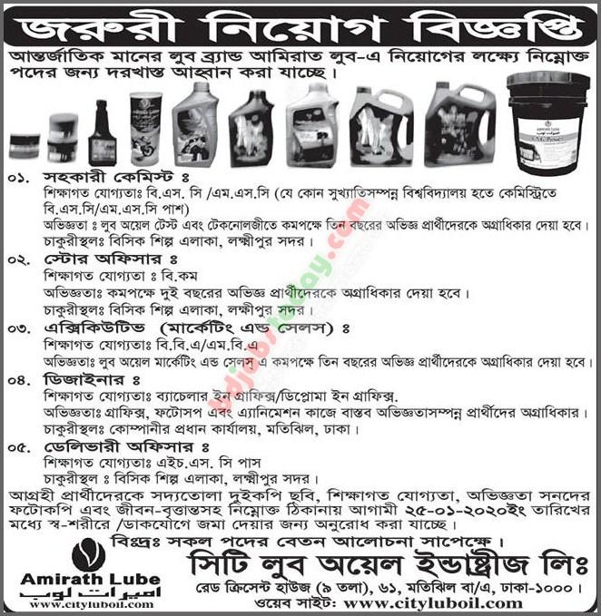 City Lub Oil Industries Ltd,