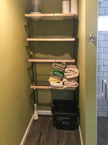 BDM Remodeling Atlanta Subway Tile Shower with Bench Neutral Tones Lime Green Walls Master 20June2019_0001_Layer 8