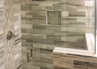 Master Bath Shower with Waterfall Design