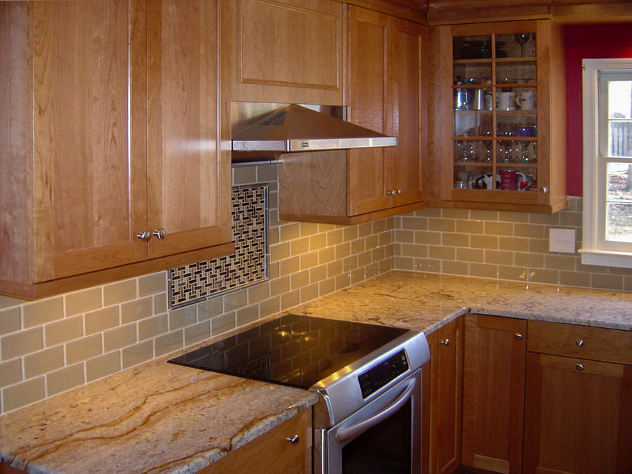 Transitional Remodeled Kitchen With Classic Maple Cabinets U0026 Contrasting  Island