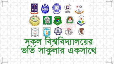 BD All University Admission Circular