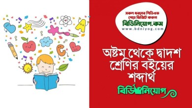 Class 8 to 12 Textbook Important Vocabulary