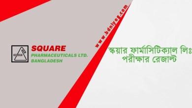 SQUARE Pharmaceuticals Limited Exam Result