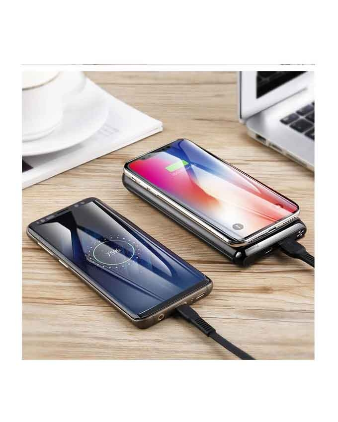 1566372823 Baseus BS-10 Quick Charge Wireless Powerbank Dual Coil Design And Digital Display