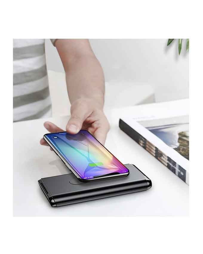 1566372828 Baseus BS-10 Quick Charge Wireless Powerbank Dual Coil Design And Digital Display