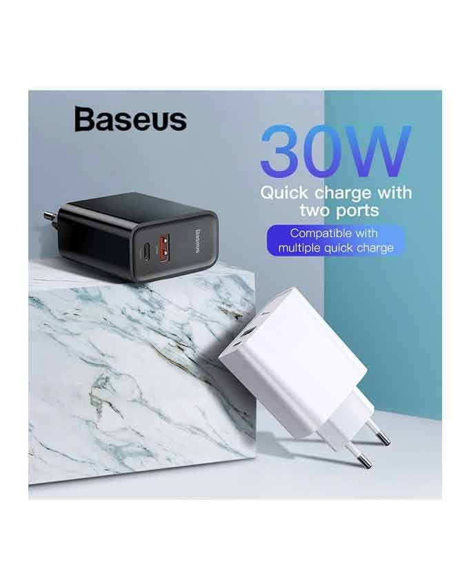 1566384329 Baseus BS-EU905 USB+Type-C Quick Charge 30W Adapter