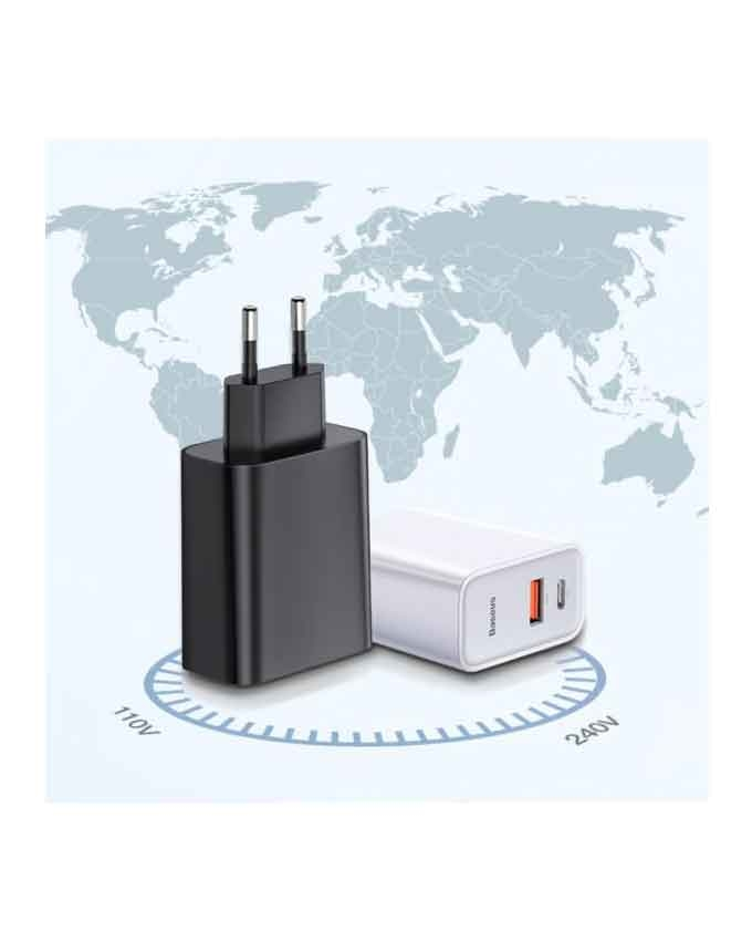 1566384333 1 Baseus BS-EU905 USB+Type-C Quick Charge 30W Adapter