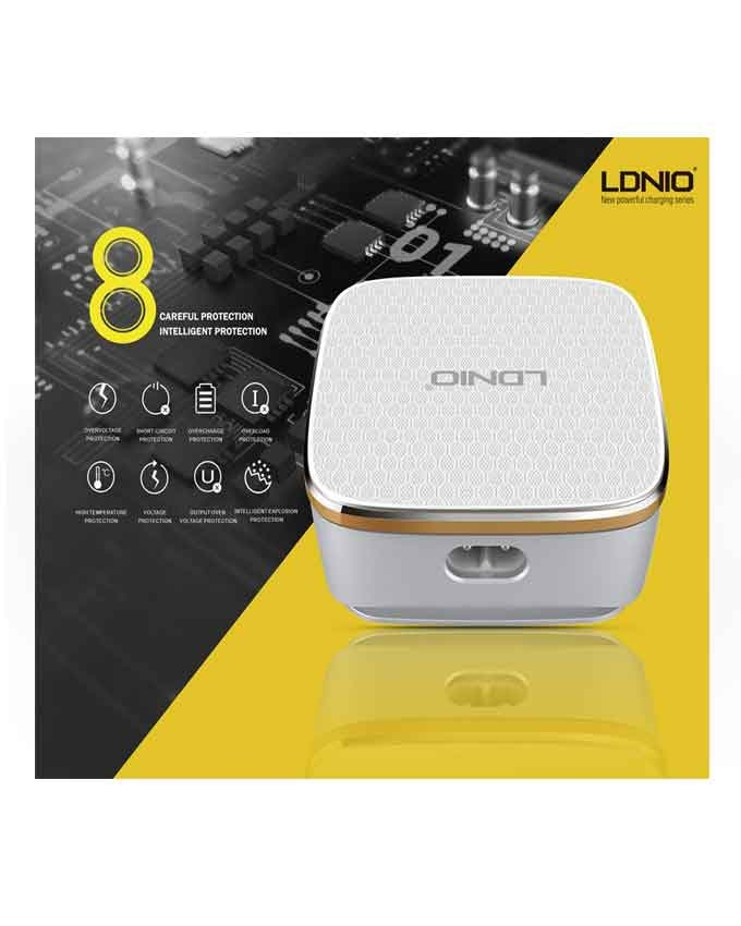1577866216 LDNIO A6704 6 USB Ports With Auto ID and Qualcomm 3.0 Quick Charge Technology