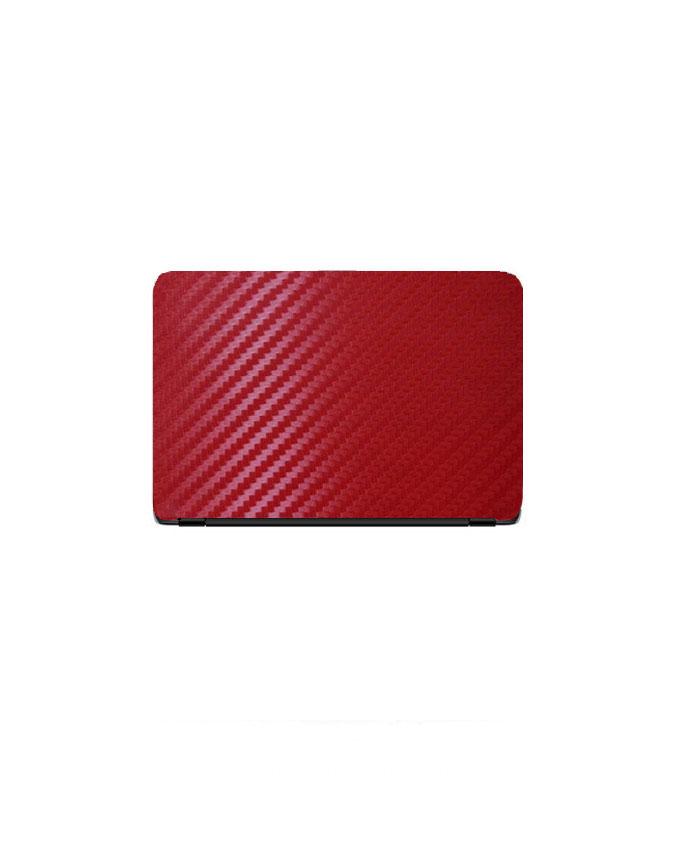 Laptop Back Protector Carbon Fiber Red Texture