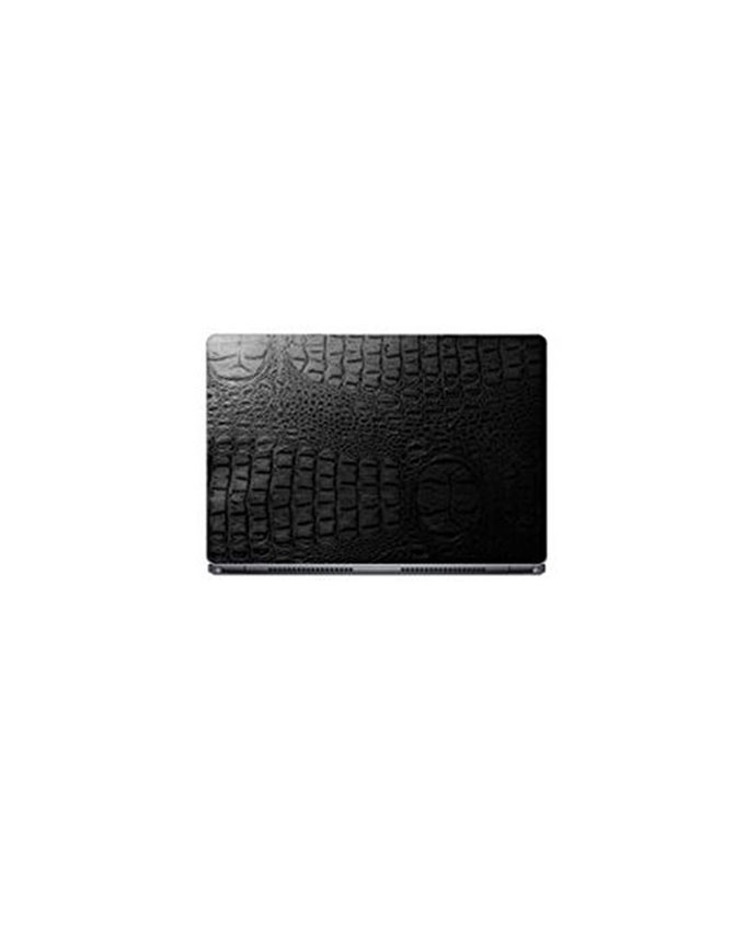 Laptop Back Stickers Crocodile Black Texture