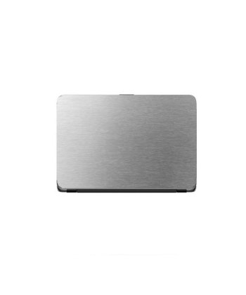 Laptop Back Cover Silver Steel Texture