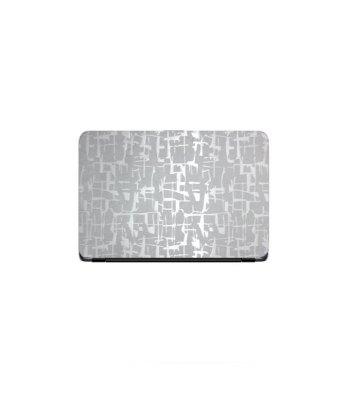 Laptop Back Cover Silver Scripture Texture