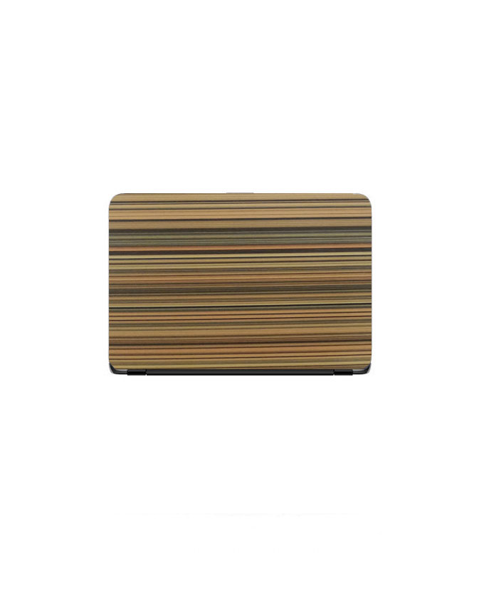 Laptop Back Cover Wooden Line Texture
