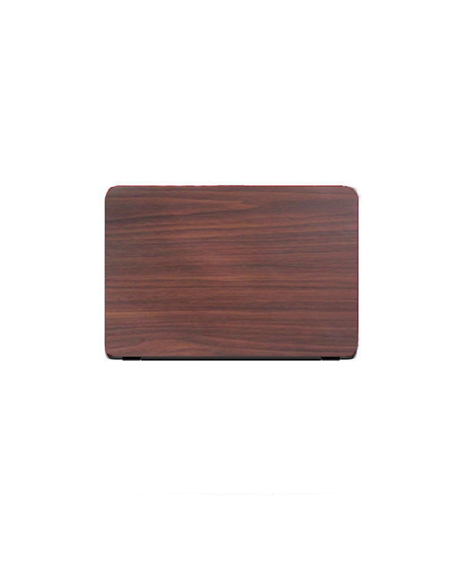 Laptop Back Cover Brown Wooden Texture