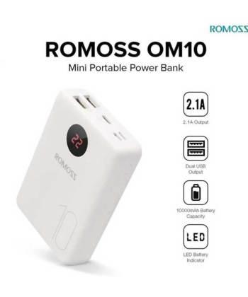 romoss om10 power bank 10000mah