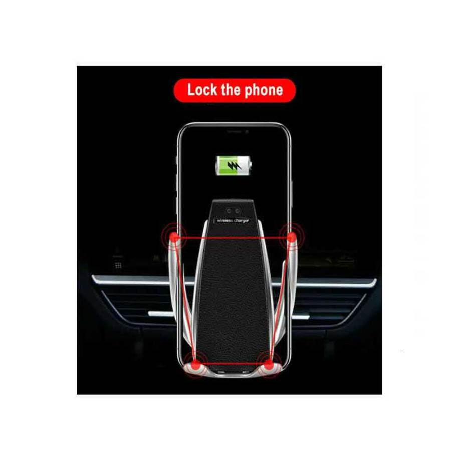 bDonix S6 Smart Sensor Car Wireless Charger Car Holder 4 S6 Smart Sensor Wireless Car Charger Mount Automatic Clamping
