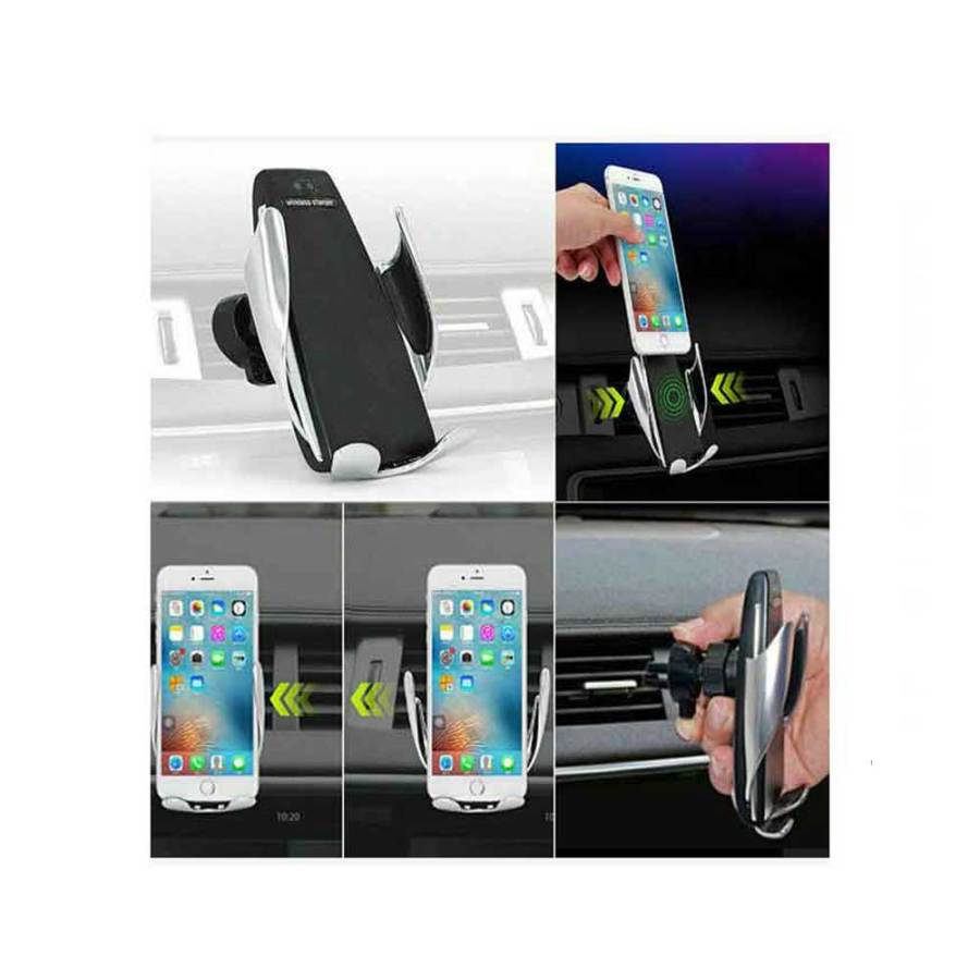 bDonix S6 Smart Sensor Car Wireless Charger Car Holder 5 S6 Smart Sensor Wireless Car Charger Mount Automatic Clamping