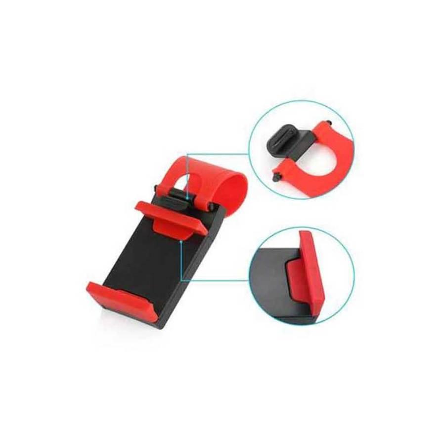 bDonix Steering Wheel Car Mobile phone Holder 2 Car Steering Wheel Phone Holder - Universal